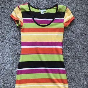 Summer bodycon striped dress